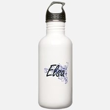 Elsa Artistic Name Des Water Bottle