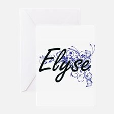 Elyse Artistic Name Design with Flo Greeting Cards