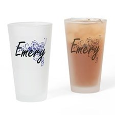 Emery Artistic Name Design with Flo Drinking Glass