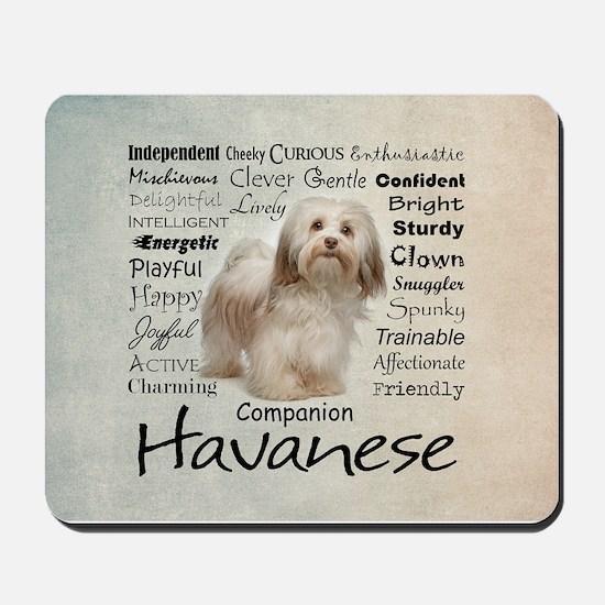 Havanese Traits Mousepad