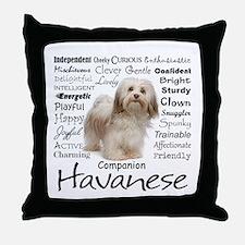 Havanese Traits Throw Pillow