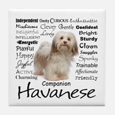 Havanese Traits Tile Coaster