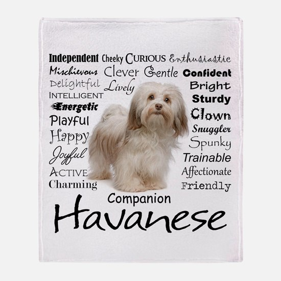 Havanese Traits Throw Blanket