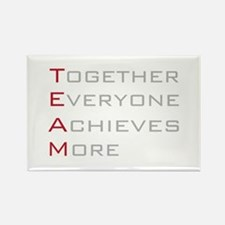 TEAM Together Everyone Achieves Rectangle Magnet