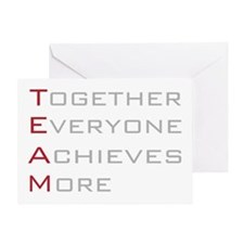 TEAM Together Everyone Achieves Greeting Card