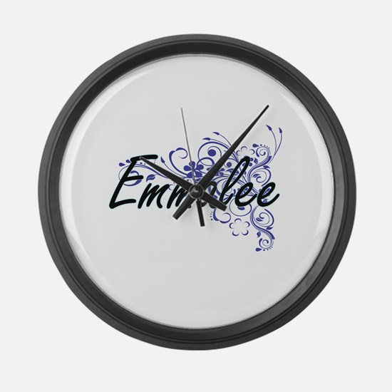 Emmalee Artistic Name Design with Large Wall Clock