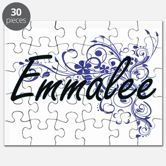 Emmalee Artistic Name Design with Flowers Puzzle