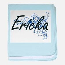 Ericka Artistic Name Design with Flow baby blanket