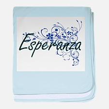 Esperanza Artistic Name Design with F baby blanket