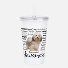 Havanese Traits Acrylic Double-wall Tumbler