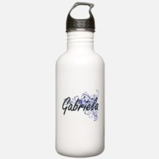 Gabriela Artistic Name Sports Water Bottle