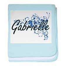 Gabrielle Artistic Name Design with F baby blanket