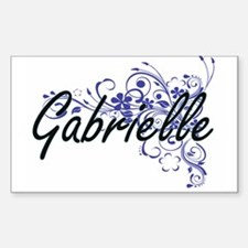 Gabrielle Artistic Name Design with Flower Decal