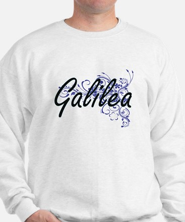 Galilea Artistic Name Design with Flowe Sweater