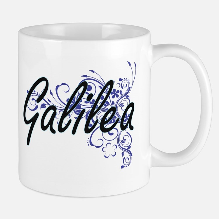Galilea Artistic Name Design with Flowers Mugs