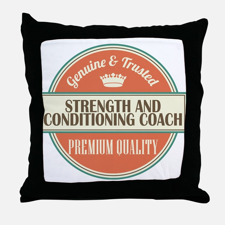 strength and conditioning coach vinta Throw Pillow