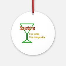 Screwdriver Ornament (Round)