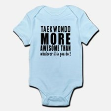 Taekwondo More Awesome Martial Art Onesie