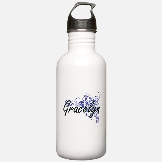 Gracelyn Artistic Name Water Bottle