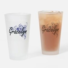 Gracelyn Artistic Name Design with Drinking Glass