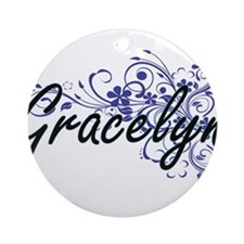 Gracelyn Artistic Name Design with Round Ornament