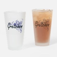 Gretchen Artistic Name Design with Drinking Glass