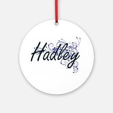 Hadley Artistic Name Design with Fl Round Ornament