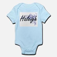 Haleigh Artistic Name Design with Flower Body Suit