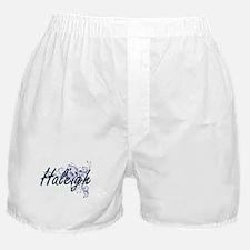 Haleigh Artistic Name Design with Flo Boxer Shorts