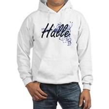 Halle Artistic Name Design with Jumper Hoody