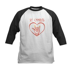 ST CHARLES (hand sign) Kids Baseball Jersey