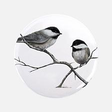 chickadee song bird Button