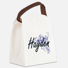 Hayden Artistic Name Design with Canvas Lunch Bag