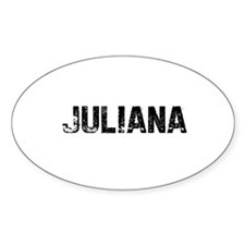 Juliana Oval Decal