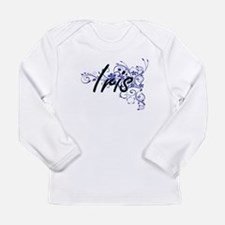 Iris Artistic Name Design with Long Sleeve T-Shirt