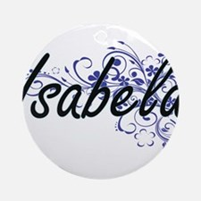 Isabela Artistic Name Design with F Round Ornament