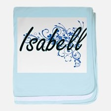 Isabell Artistic Name Design with Flo baby blanket