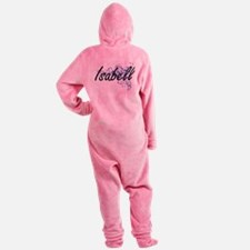 Isabell Artistic Name Design with F Footed Pajamas