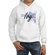 Ivy Artistic Name Design with Fl Hoodie