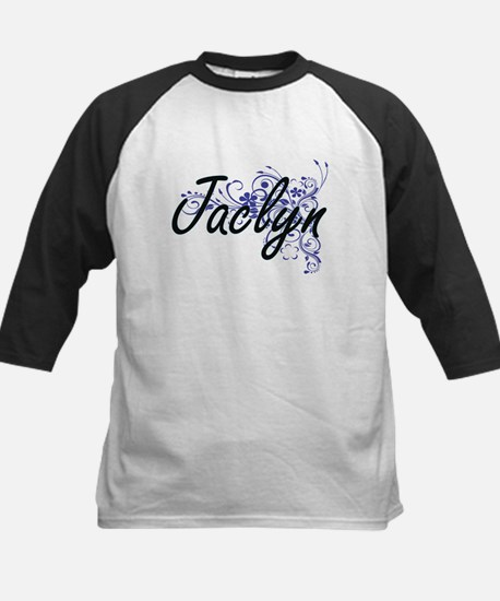 Jaclyn Artistic Name Design with F Baseball Jersey