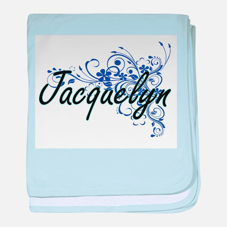 Jacquelyn Artistic Name Design with F baby blanket