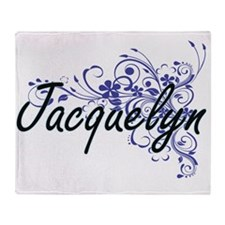 Jacquelyn Artistic Name Design with Throw Blanket