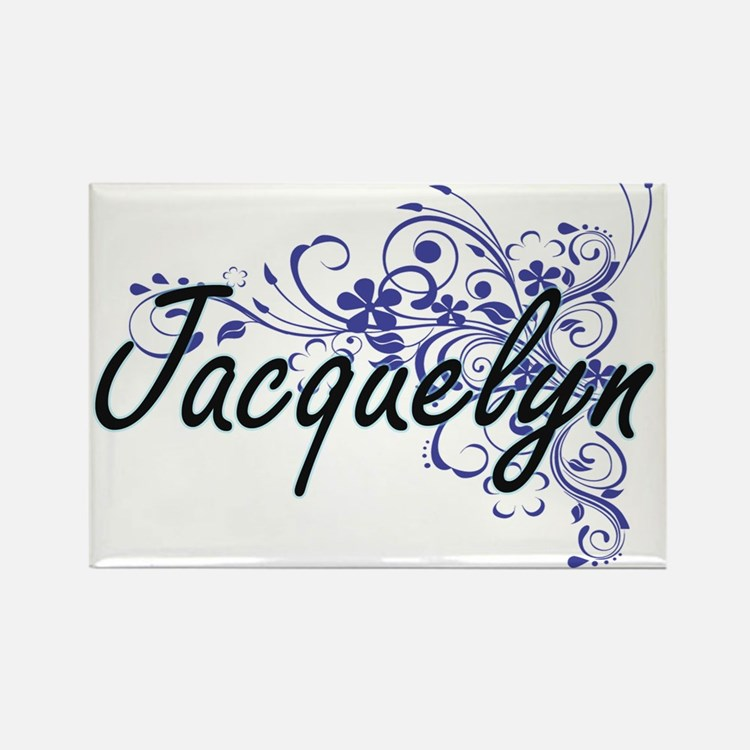 Jacquelyn Artistic Name Design with Flower Magnets