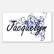 Jacquelyn Artistic Name Design with Flower Decal