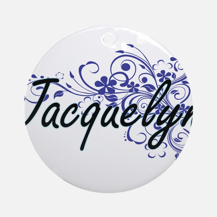 Jacquelyn Artistic Name Design with Round Ornament