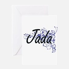 Jada Artistic Name Design with Flow Greeting Cards