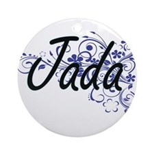 Jada Artistic Name Design with Flow Round Ornament