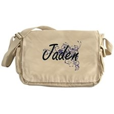 Jaden Artistic Name Design with Flow Messenger Bag