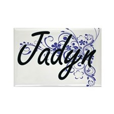 Jadyn Artistic Name Design with Flowers Magnets