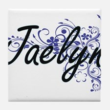 Jaelyn Artistic Name Design with Flow Tile Coaster